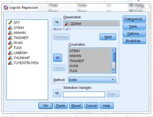 hoiquylogit 300x229 - Hướng dẫn hồi quy nhị phân Binary Logistic trên spss
