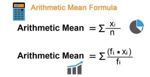 Arithmetic Mean Formula 300x154 - Phân tích thống kê mô tả